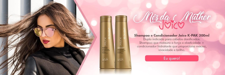Mês da Mulher - Shampoo e Condicionador Joico K-PAK 300 ml