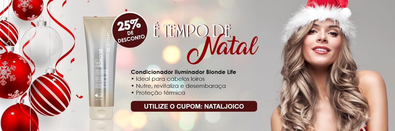 Tempo de Natal - Condicionador Iluminador Joico Blonde Life