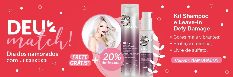 Dia dos Namorados Joico 2021 - Shampoo e Leave-In Defy Damage