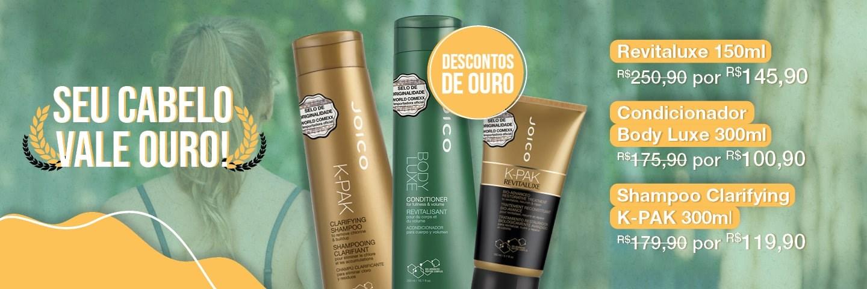Olimpíadas - Revitaluxe, Condicionador Body Luxe e Shampoo K-pak Clarifying
