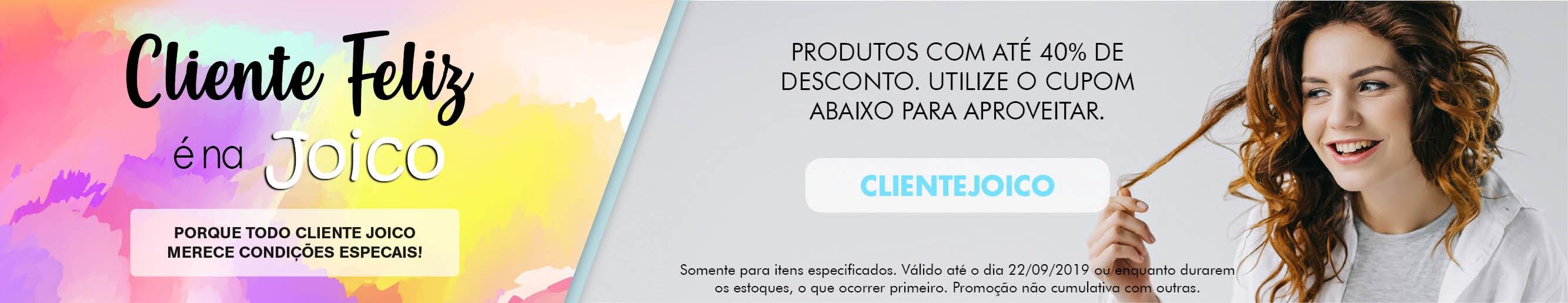 Cliente feliz é na Joico! Landing Page