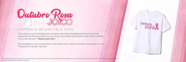 Outubro Rosa - Camiseta e Saquinho Beleza pela Cura