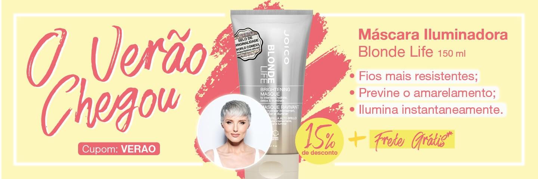 Verão Joico - Máscara para Iluminação e Hidratação Joico Blonde Life 150ml