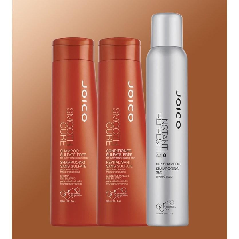 Kit Trio Joico Escova Perfeita e Duradoura (Shampoo +  Condicionador + Shampoo à Seco)