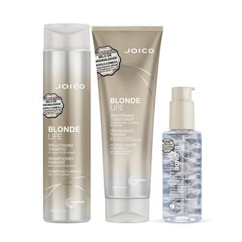 Kit Joico Blonde Life Para Iluminar (Shampoo, Condicionador e Óleo)
