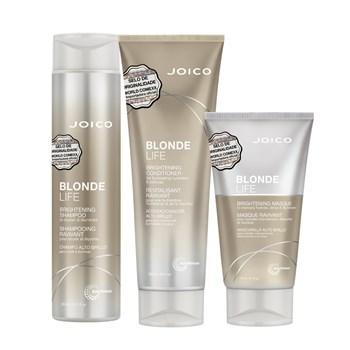 Kit Triplo Joico Blonde Life Shampoo, Condicionador e Máscara