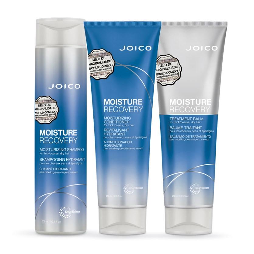 Kit Triplo Joico Moisture Recovery (Shampoo, Condicionador e Máscara)